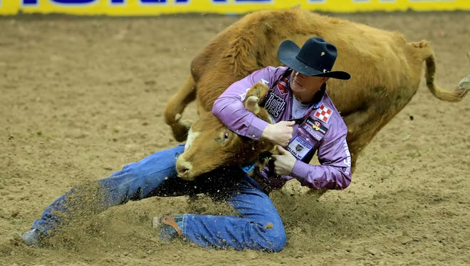 Steer wrestler Ty Erickson of Helena finished second in the world standings with total PRCA earnings of more than $263,000 in 2017.