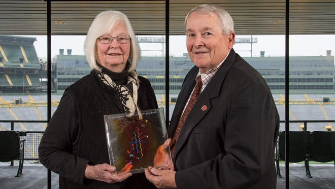 Sue and Tim Stone were awarded the Outstanding Lifetime Philanthropy Award Nov. 15, 2017.