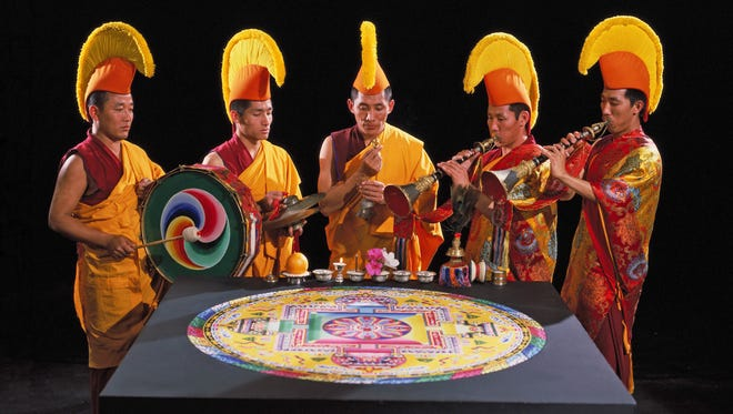 Tibetan Buddhist monks will create an intricate sand mandala painting during a week's stay April 9-13 at St. Norbert College in De Pere.