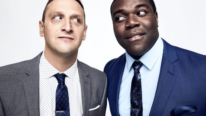 Tim Robinson (left) and Sam Richardson of Comedy Central's 'Detroiters.'