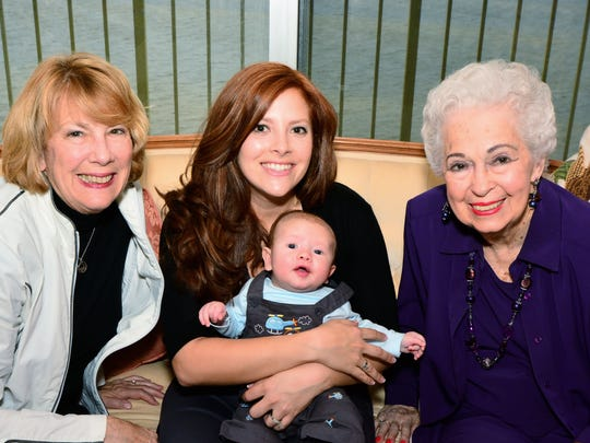 Peggy White, her daughter Perryn McLeod, grandson Duncan and her mother Angela Fishburn.