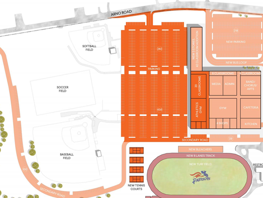 A rendering of phase three of renovations at Page High