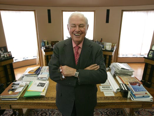 A. Alfred Taubman, founder of Taubman Centers, Inc.,