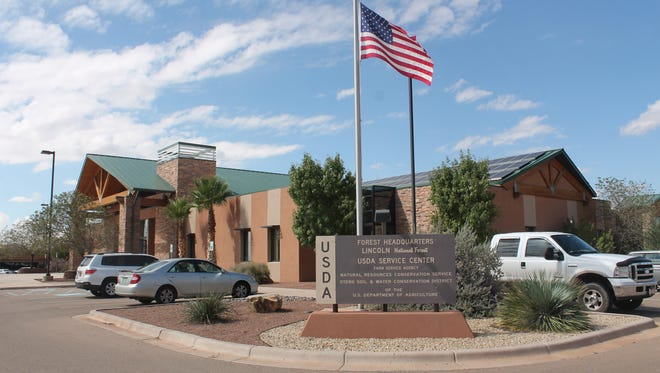 The Lincoln National Forest Office at 3463 Las Palomas Road in Alamogordo. County Commissioners have decided to appeal the federal ruling regarding cutting down trees on forest lands at their County Commission meeting Thursday morning.