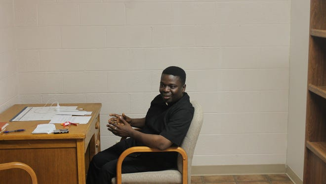 Father Theophine grew up in Awka, Nigeria before leaving for the United States at age 20