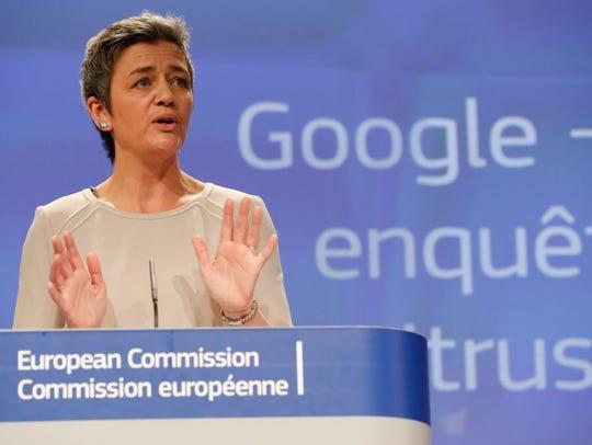 Denmark's EU Commissioner for Competition Margrethe