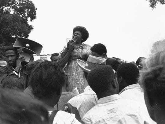 Fannie Lou Hamer speaks to Mississippi Freedom Democratic