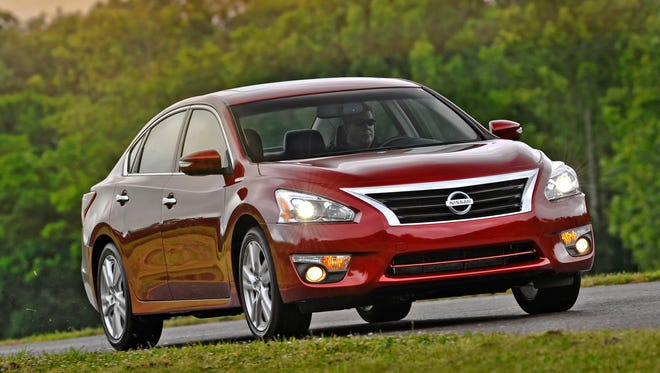 The 2013 Nissan Altima is being recalled because the hood can fly open