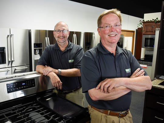 Peter Matter and Bob Regan, owners of M & H Appliance,