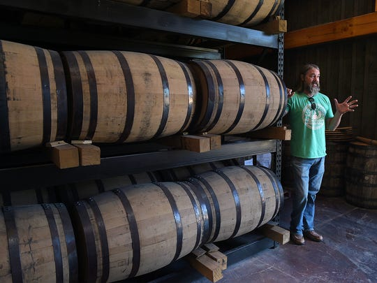 Leipers Fork Distillery owner and distiller Lee Kennedy gives a tour of his family owned distillery, which is having a grand opening October 1, 2016.