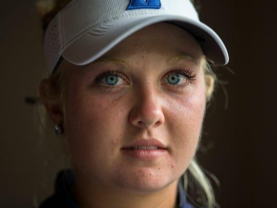 Center Grove junior Erica Shepherd, 16, poses for a