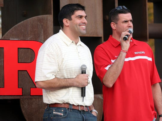 The Rutgers football program's state-of-the art practice complex is named after Marco Battaglia (left)