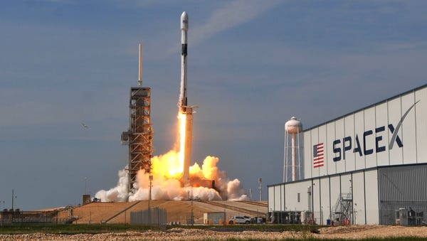 The first SpaceX Falcon 9 Block 5 rocket launches...