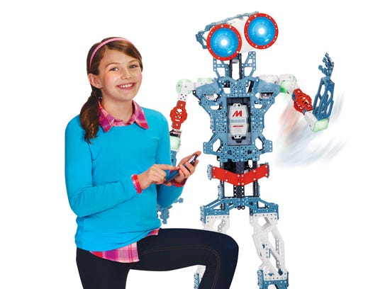 The Meccano Meccanoid is two feet tall and made of