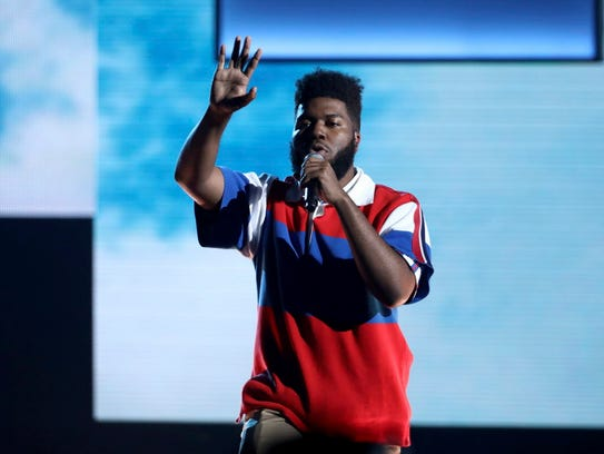 Khalid, one of the breakout R&B acts of 2017, performs