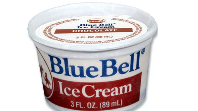 Blue Bell Ice Cream's 3-ounce pull-tab cups in chocolate, strawberry and vanilla are subject to the company's second recall in two weeks.