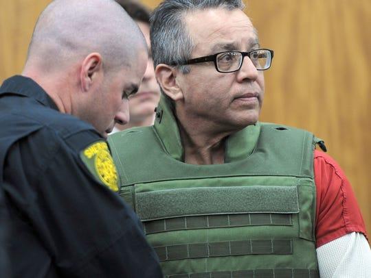 File photo: Ernesto Gonzalez, wearing a bulletproof