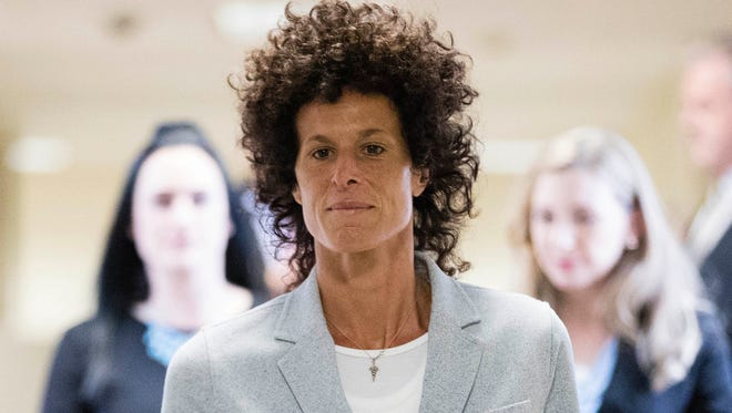 Bill Cosby accuser Andrea Constand walks to the courtroom in Norristown, Pa., on June 6, 2017, during Day 2 of his trial on charges he sexually assaulted her in 2004.