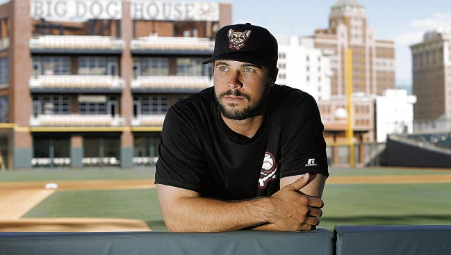 El Paso Chihuahuas catcher Austin Hedges is on of San Diego's top prospects. This will be Hedges' fifth season playing professional ball after being drafted out of Junipero Serra High School in 2011.