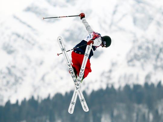 Devin Logan (USA) competes in ladies' ski slopestyle