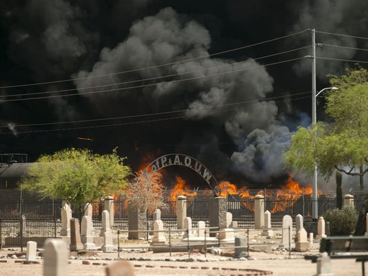 Phoenix recycling plant fire