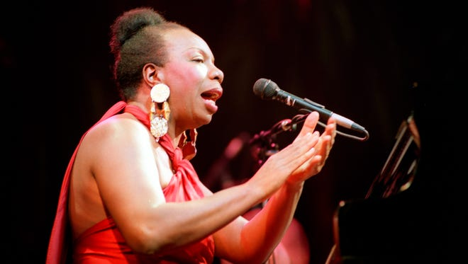 Legendary jazz and blues singer Nina Simone in concert in 1991 in Paris.