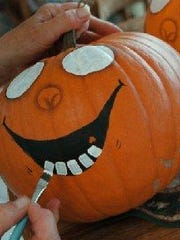 Paint is a fun way to add character to pumpkins.