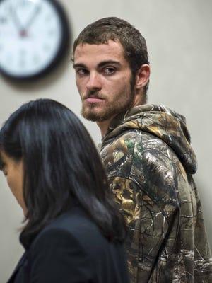 William D. Schenk is arraigned in Vermont Superior Court in Burlington on Friday, November 12, 2015.