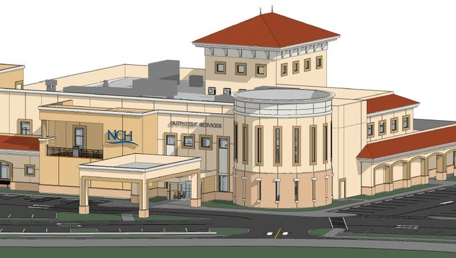 NCH Healthcare System rendering of the proposed stand-alone facility in Estero.