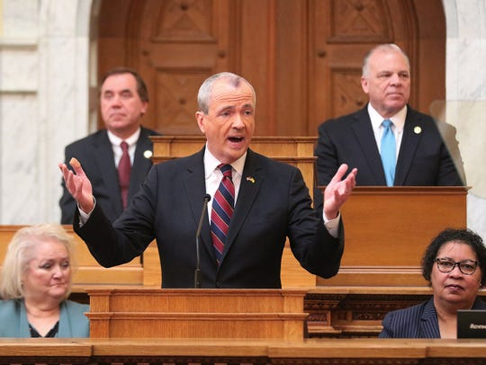 Gov. Phil Murphy addresses the Legislature and introduces