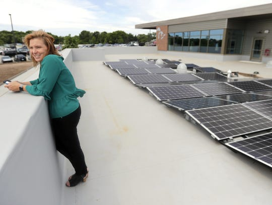 Students designed and installed the solar panels on
