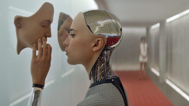 "Alicia Vikander stars in the artificial-intelligence film ""Ex Machina."""