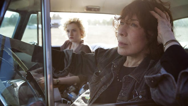 """Tailor-made for the sensational Lily Tomlin, right, """"Grandma"""" is a comedy with big laughs and even bigger heart. Julia Garner, left, also stars."""