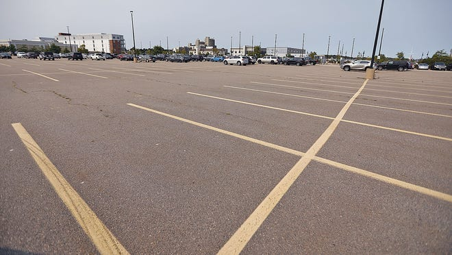 The Hingham MBTA Commuter boat terminal and parking lot in Hingham on Tuesday September 15, 2020  Greg Derr/ The Patriot Ledger
