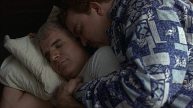 """A scene from the 1987 film """"Planes, Trains and Automobiles."""""""