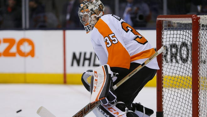 Steve Mason entered the game in the second period even though the plan was not to play him.