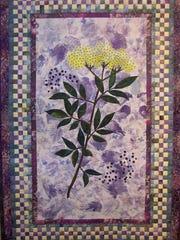 "Nancy J Steidle, ""Elderflower "" quilt ""Just Breathe"" in the Natural healing exhibit."