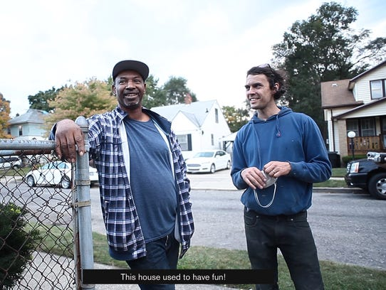 "Vincent Thomas (left), former homeowner of ""The White"