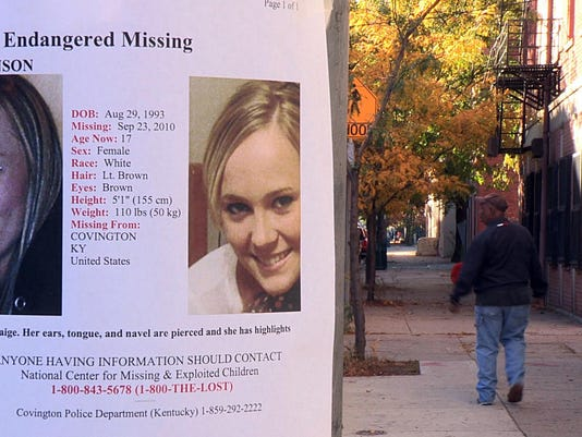 Paige missing poster