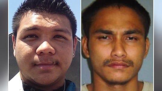 Jerald Joseph Alvarez, left, and Jeremy Allen Evaristo, right, are shown in this combined photo.