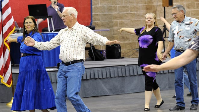 Hundreds of dancers from around the state descended on Wichita Falls' MPEC for the Texas State Federation of Square and Round Dancers in 2012.