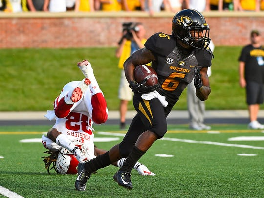 At Missouri, Marcus Murphy totaled 5,112 all-purpose yards which was the second-most in school history.