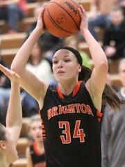 Brighton's Morgan Belford shoots for two against Howell.