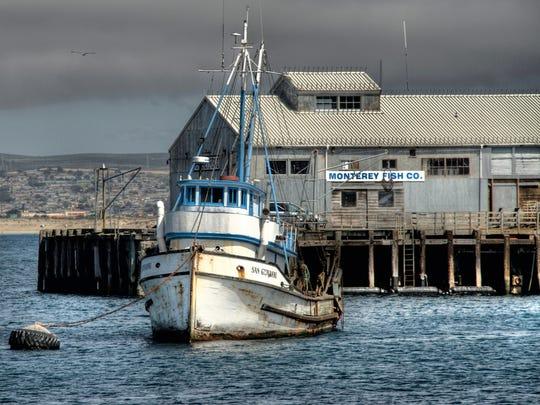 Fishing boats in Monterey Bay.