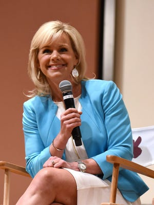 Gretchen Carlson at a panel in Greenwich, Conn.