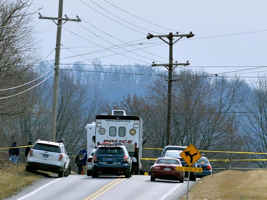 West Manchester Township Police investigate a suspicious death along Hokes Mill Road, Thursday January 5, 2017. John A. Pavoncello photo