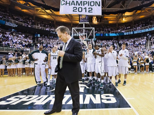 Raising banners for work done in March has become an MSU tradition under coach Tom Izzo. The Spartans have one national title, six Final Four appearances, seven Big Ten regular-season crowns and four conference postseason titles since Izzo took over the program in 1995-96.