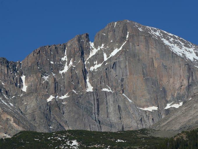 Longs Peak at Rocky Mountain National Park is seen on June 20.