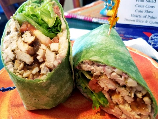 Ellie's Deli's chicken wrapito is a grilled julienned