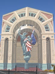 Liberty Remembers Mural in Bucyrus.